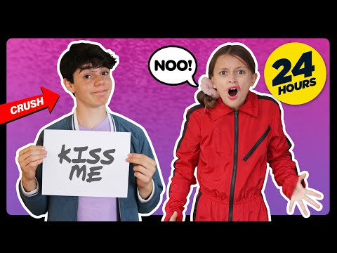 My Crush Controls My Life For A Day! 24 HOUR CHALLENGE **FIRST KISS**| Sophie Fergi Piper Rockelle