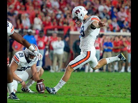 Auburn kicker Daniel Carlson: Nov. 1, 2016