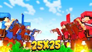 25 VS 25 БИТВА КОРОЛЯ И СЫНА! СЫН ОБЪЕДИНИЛСЯ С МОИМИ ВРАГАМИ! Minecraft
