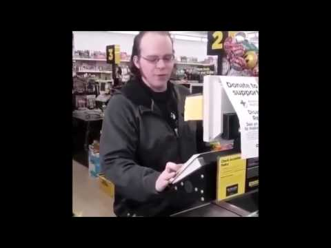 White Guy Cashier Sings Black Soul VERY GOOD!!! (SNIPPET)