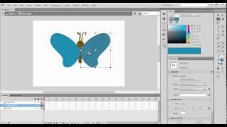 Tutorial Adobe Flash Professional -Membuat Animasi Kupu-Kupu
