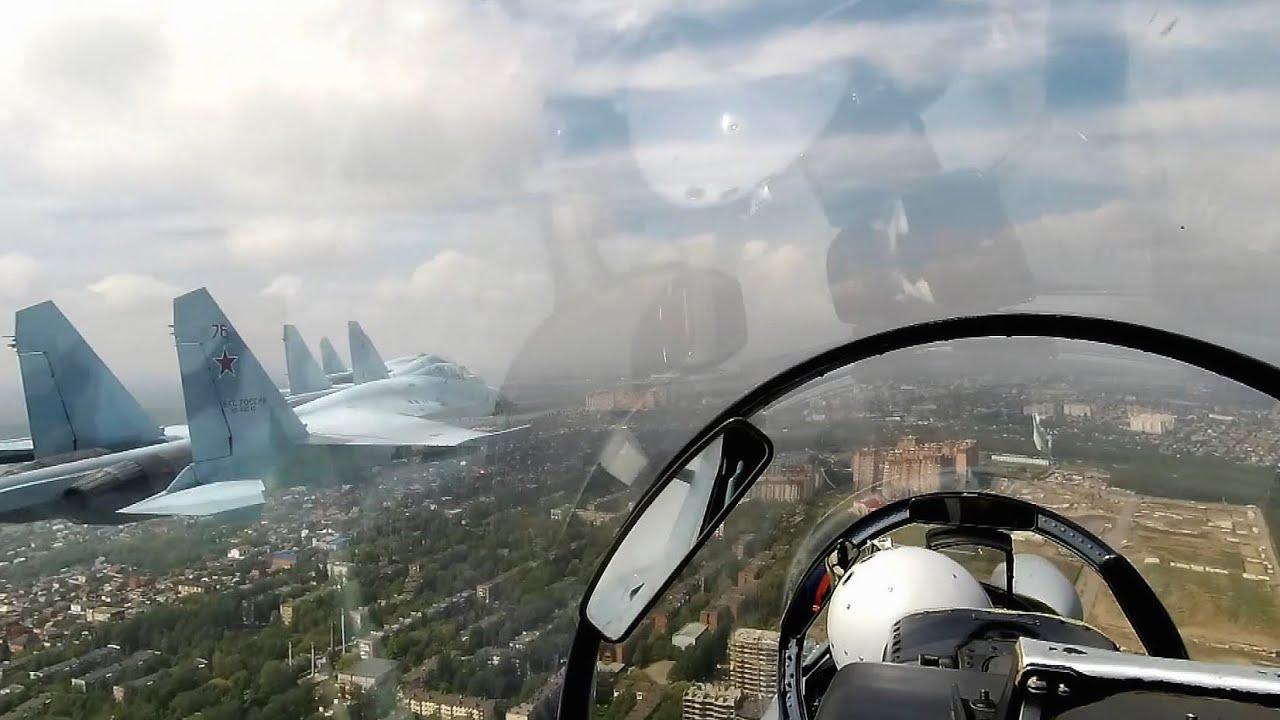 Тренировка авиационной части парада к 75-летию Победы в Новороссийске