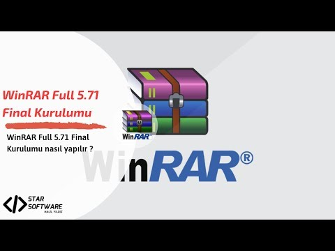 WinRAR Full Türkçe 5.71 Final Kurulumu | WinRAR Full Türkçe 5.71 Final Installation