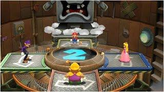 Mario Party 9 Bob-omb Factory - Peach vs Wario vs Waluigi vs Mario Gameplay | MARIOGAMINGHUB