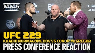 UFC 229: Khabib vs. McGregor New York Press Conference Reaction - MMA Fighting