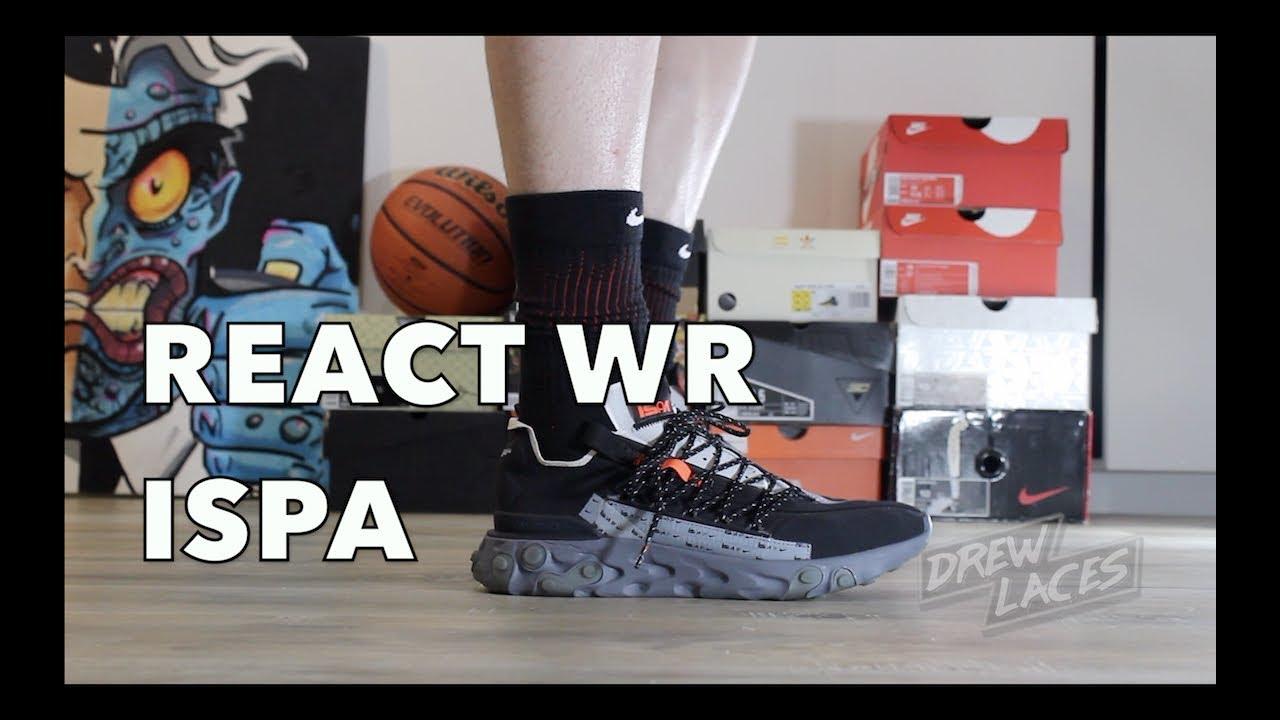 Nike React WR ISPA Black on Feet