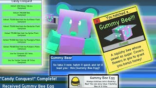 UNLOCKING *NEW* GUMMY BEE!!!! Completing all GOO quests!! - Roblox bee swarm simulator thumbnail