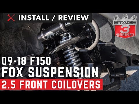 2009-2018 F150 4WD FOX 2.5 Factory Series Reservoir Front Coilovers Install And Review