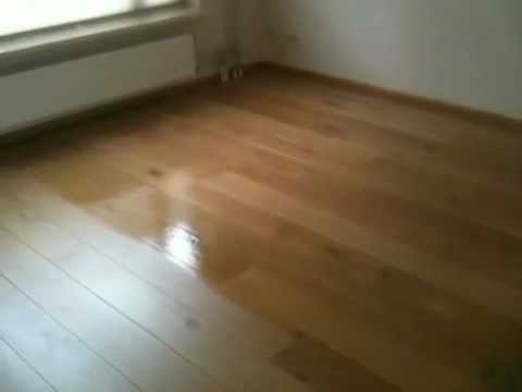 Apoera eiken vloer lakken met roller youtube