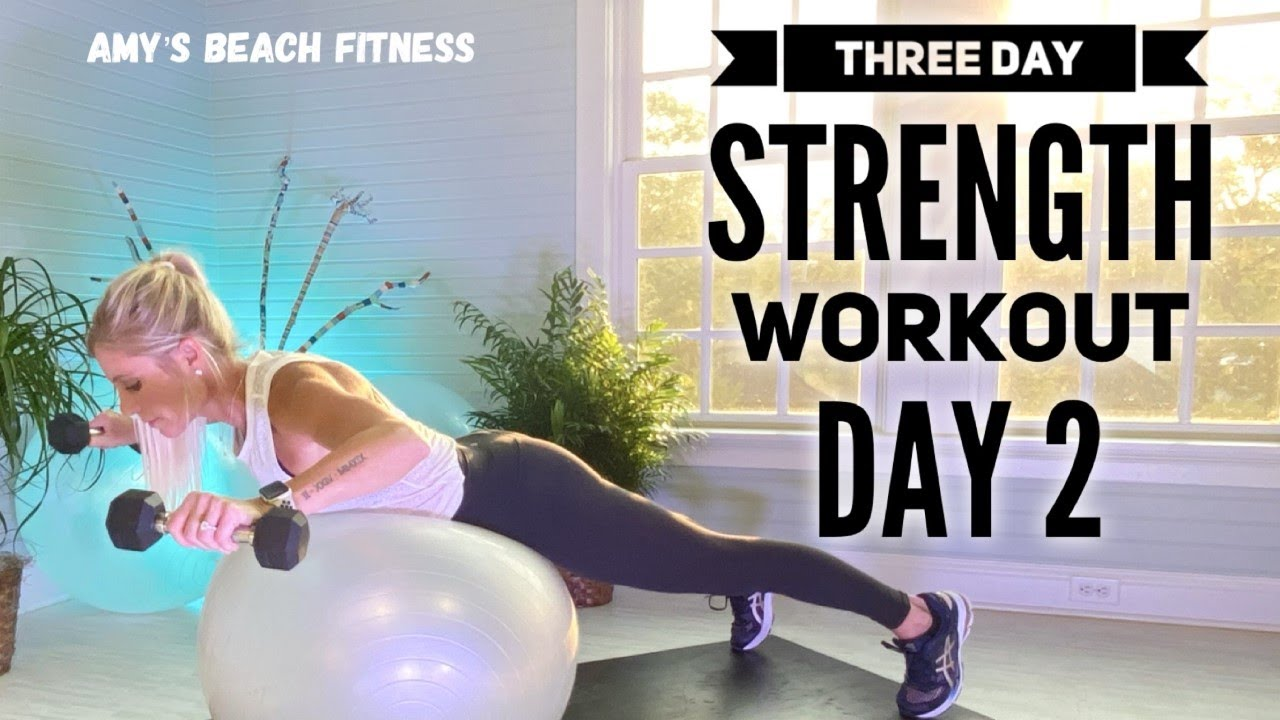 Three Day Strength Workout - Day 2 - Biceps, Back & Core