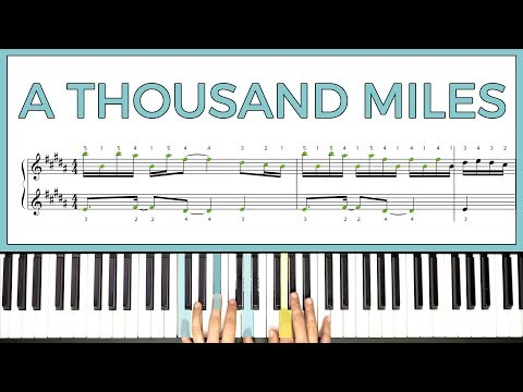 How to play A THOUSAND MILES  Vanessa Carlton on the piano  Playground Sessions