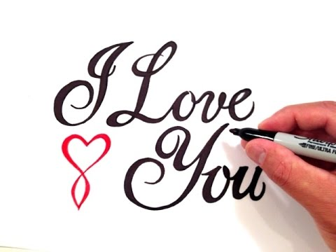 How to Write I Love You in Fancy Cursive with a Cursive Heart