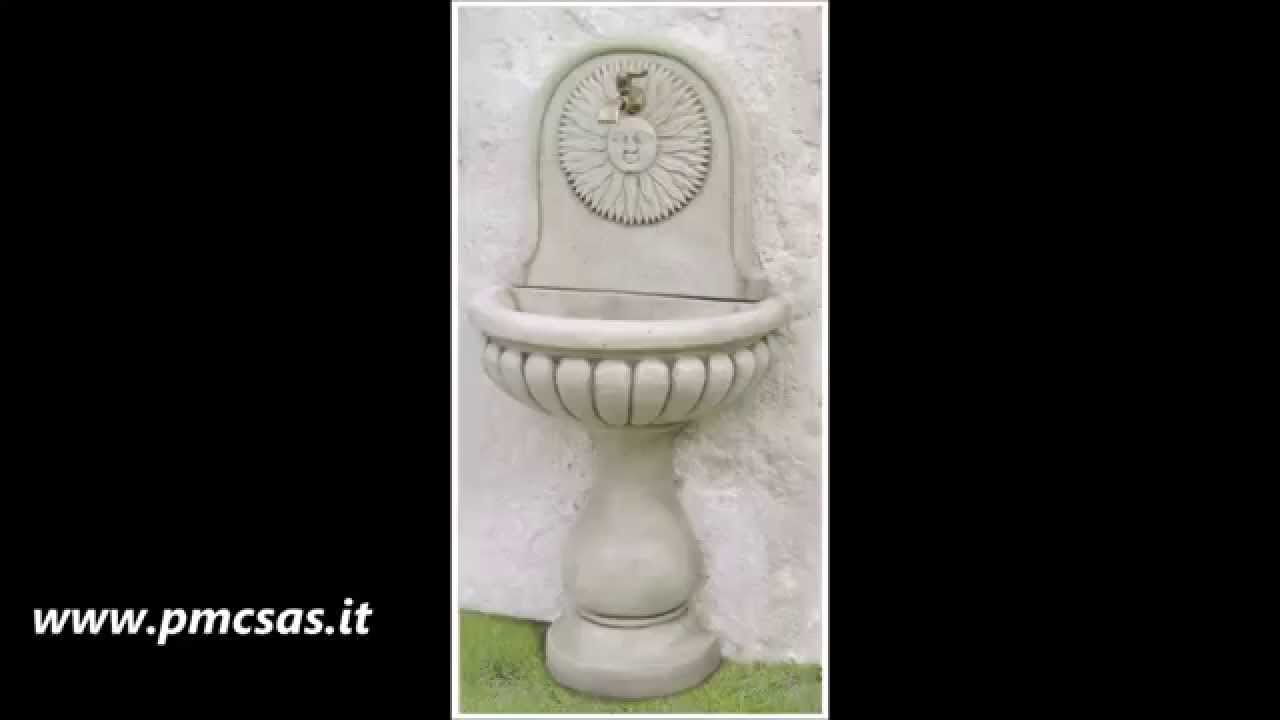 Come Costruire Una Fontana In Cemento.Fontane A Muro Youtube