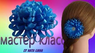 Заколка для волос. Цветы из узкой ленты. / Flower Hair Clip .