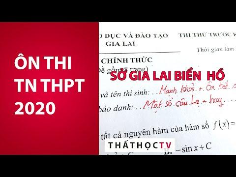 Giải Đề Thi Thử Tốt Nghiệp THPT 2020 Môn Toán Sở Gia Lai