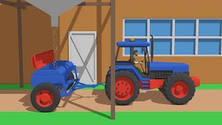 Animated fairy tale about tractors for Kids - Tractors and Agricultural Vehicles | Tractors the best