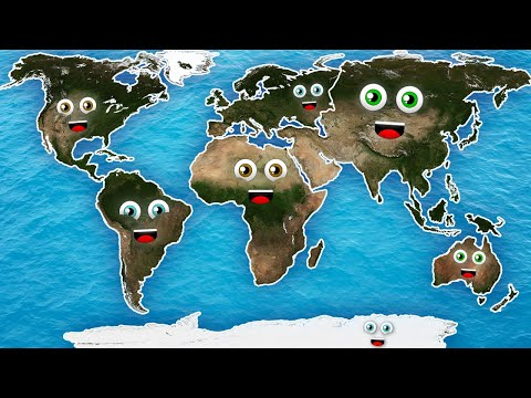 7 Continents Song/7 Continents for Kids /7 Continents in HD