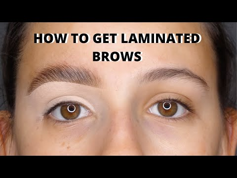 HOW TO GET LAMINATED BROWS USING SOAP BROW \\\\ FLUFFY BROWS