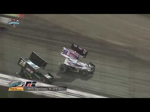 Knoxville Raceway 305 Highlights June 24, 2017