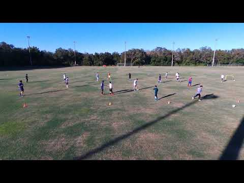 USF Tampa Chinese Soccer Pickup Game on 12/10/2017 shot by Drone - Part 1