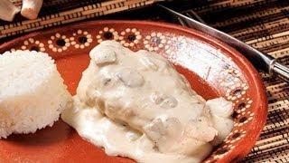 Pollo en crema de champiñones - Chicken in Cream of Mushroom