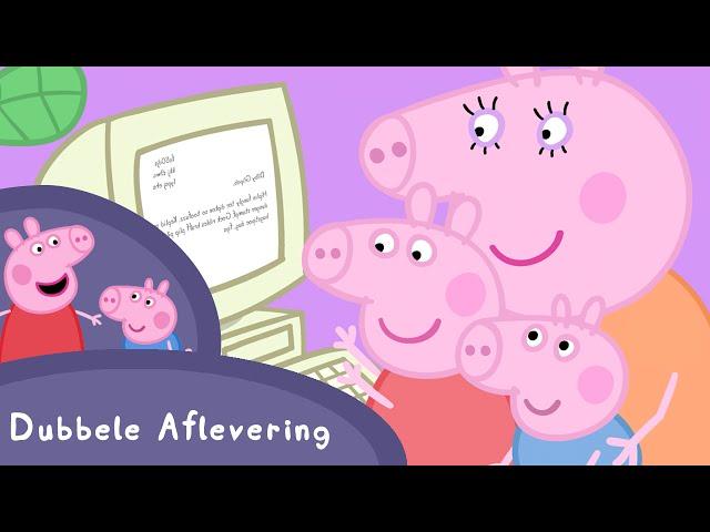Peppa Pig Nederlands Compilatie Nieuwe Afleveringen | Mama moet werken| Tekenfilm | Peppa de Big