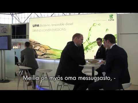 Sari Mannonen's interview on World Bio Markets 2014 - UPM as a platinum sponsor of the event -