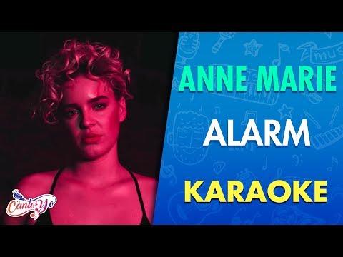 Anne-Marie - Alarm [Official Video] Lyrics | Karaoke| CantoYo