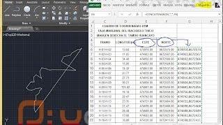 Llevar Coordenadas de Excel hacia Autocad 2015 (X,Y) o Este, Norte