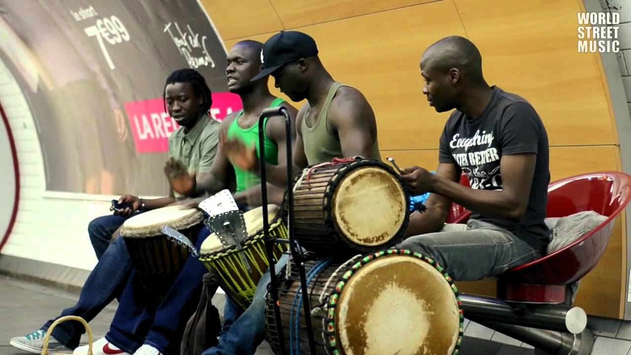 African Drummers playing Djembe drums in Paris Subway [HD ...