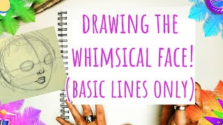 How to Draw a Whimsical Girl Face from Front and 3/4 View for Beginners (Features Placement Only)
