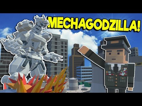 MECHAGODZILLA VS GODZILLA IN THE CITY! - Tiny Town VR Gameplay - Oculus VR Game