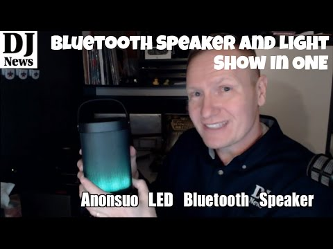 Anonsuo Bluetooth Battery Powered Speaker With Built In LED Colorful Sound Reactive Light Show
