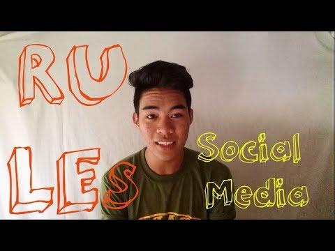10 rules in Social Media  (tagalog)