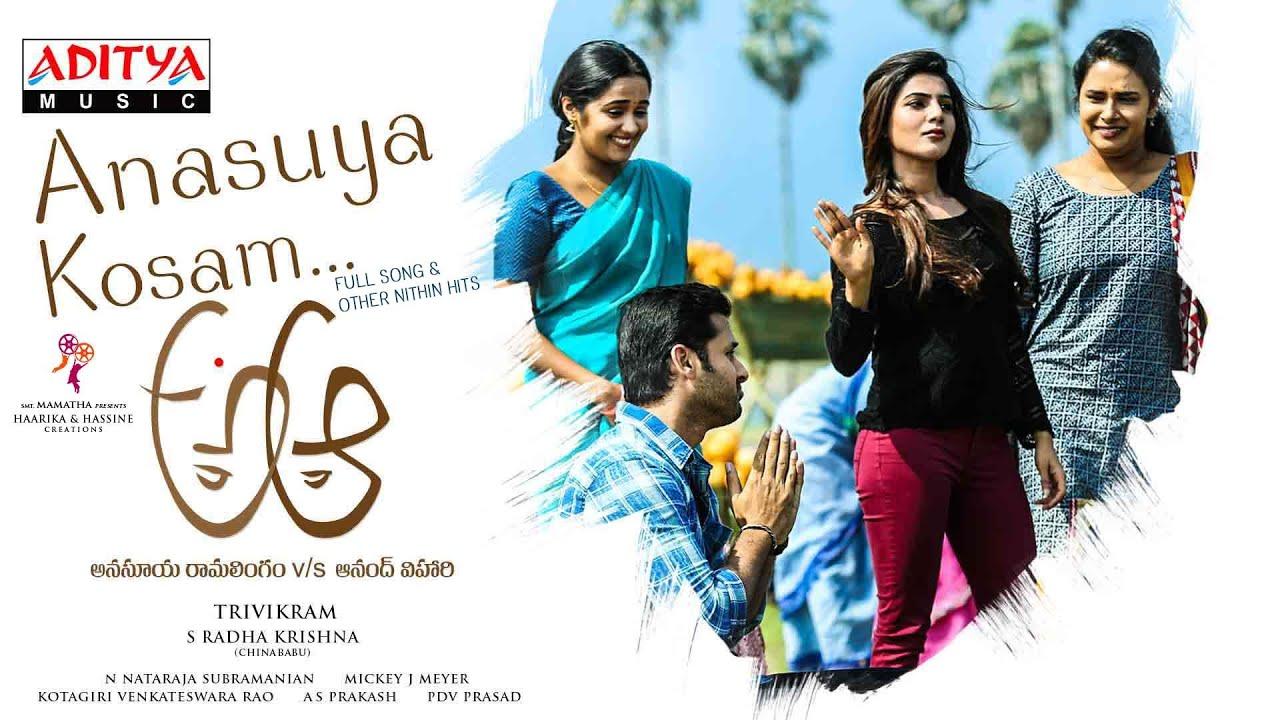 A Aa In Telugu: Anasuya Kosam Full Song