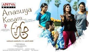 Anasuya Kosam Full Song | A Aa Telugu Movie | Nithiin, Samantha, Trivikram, Mickey J Meyer