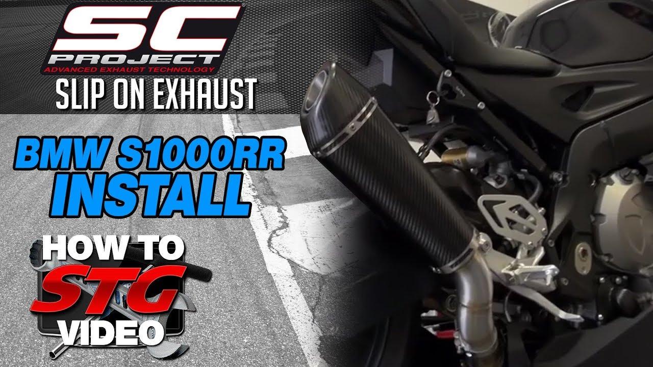 2016 bmw s1000rr sc project slip on exhaust install sportbiketrackgear com