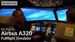 Ein Flug mit dem Airbus A320 Fullflight Simulator