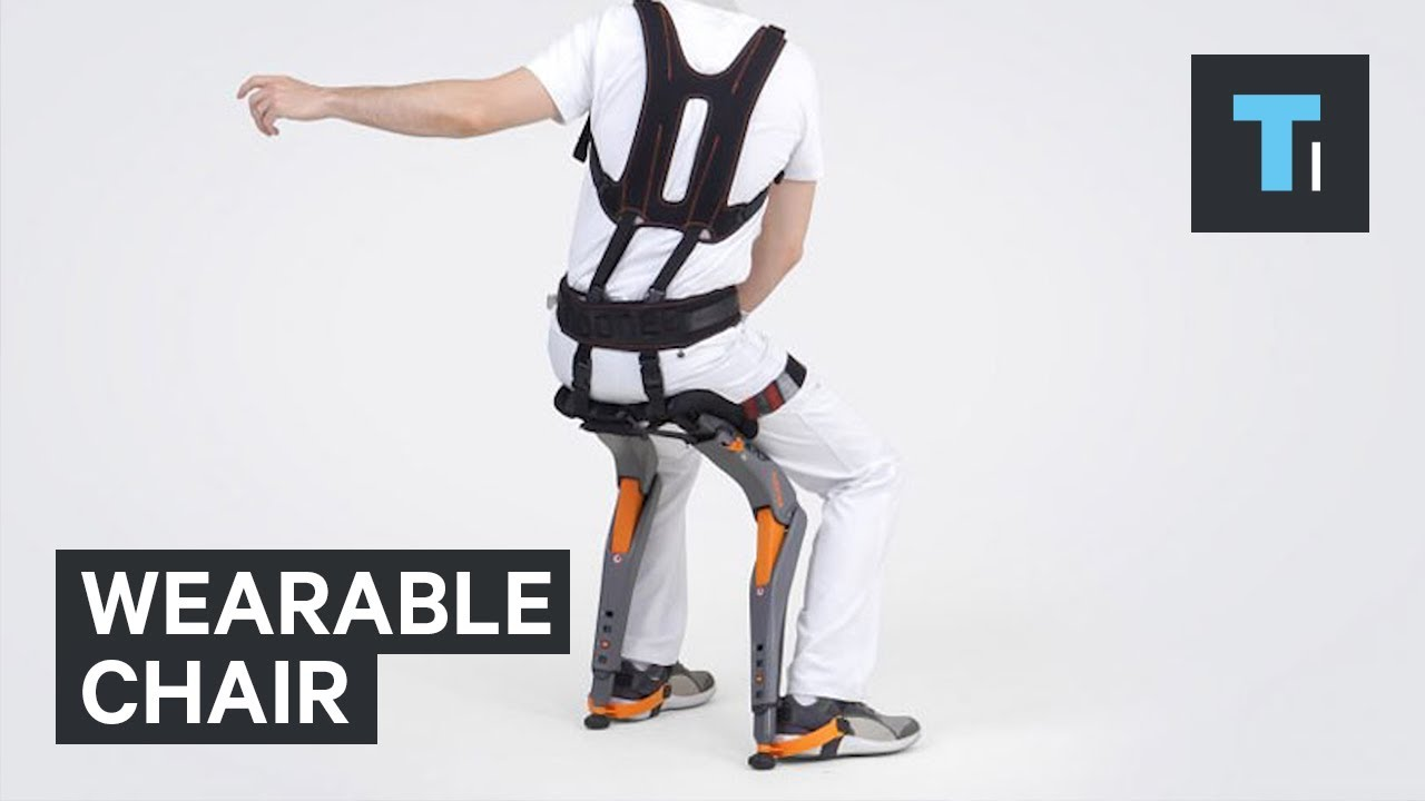 chair stand up trick brown living room chairs you can take a seat anywhere with this wearable youtube