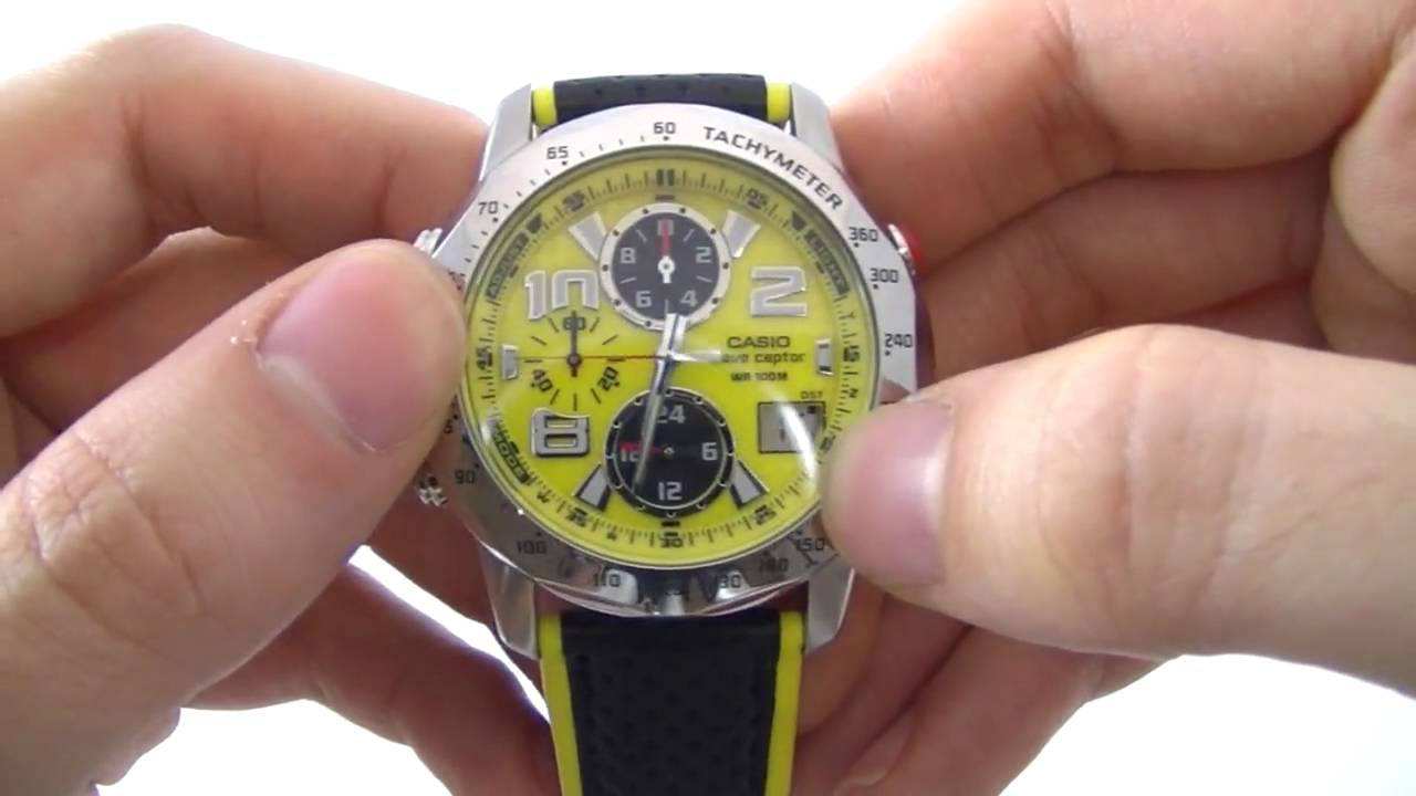 men s casio edifice wave ceptor chronograph watch wvq 550le 9aver rh youtube com Vintage Casio Watches Casio Analog Watches