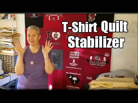 T Shirt Quilt Prep Stabilizing Your T Shirts Youtube