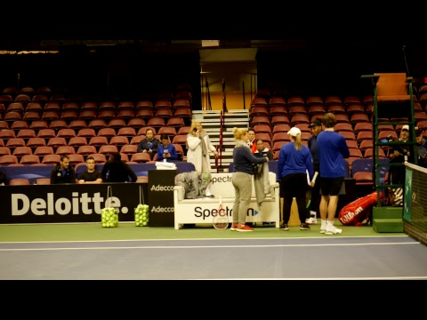 Fed Cup R1 2018: Team USA Tennis Star Serena Williams Practice Session