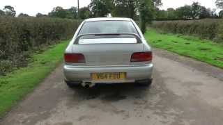1999 Subaru Impreza Turbo 2000 launch and exhaust sound and drive-by's