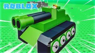 OMG I CONSTRUIT A TANK! Roblox Building Simulator (Code)