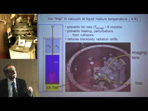 Quantum Frontiers lecture: Dr. David Wineland on Atomic Clocks and Ion Trap Quantum Computing