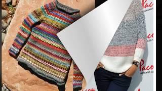 Pletena moda.Свитер  многоцветный  и  рукав реглан