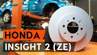 Stabdžių diskas keitimas HONDA INSIGHT (ZE_) - vadovas