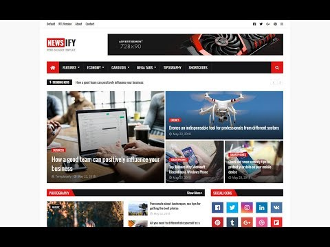How To Install and Setup Newsify Magazine Blogger Template