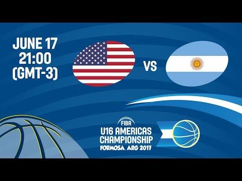 United States vs Argentina - Semi-Finals - FIBA U16 Americas Championship 2017