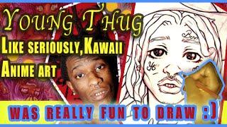 Drawing Young Thug Anime Kawaii AF #artistlife #drawing #Kawaii